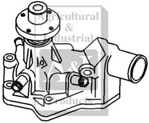 water pump John Deere Baler Knotter Parts ujd20572 water pump replaces re61715